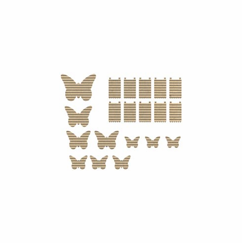 Jillibean Soup - Corrugated Shapes - Butterflies 20/pkg