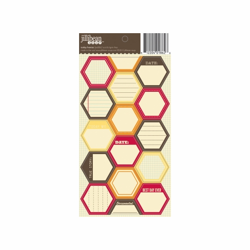 Jillibean Soup - Hexies Cardstock Stickers - Today
