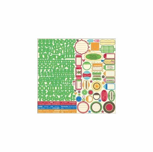 "Jillibean Soup: Watermelon Gazpacho - Cardstock Stickers 12""X12"" Sheet"