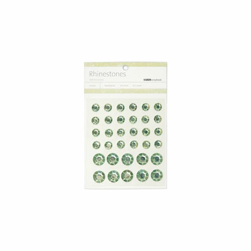Kaisercraft: Round Mix - Mint Self-Adhesive Rhinestones 34/Pkg