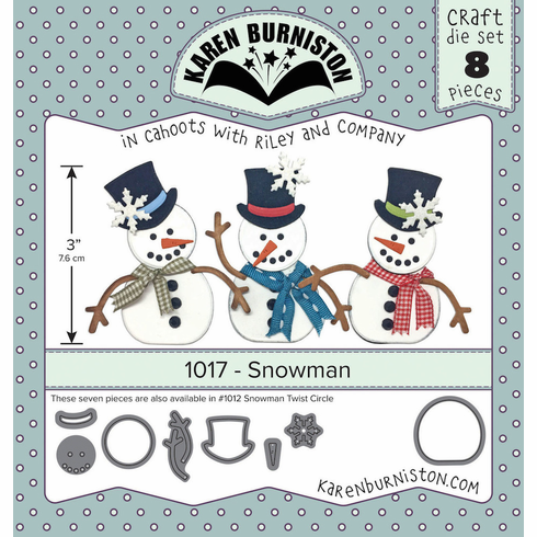Karen Burniston Snowman Die Set 1017
