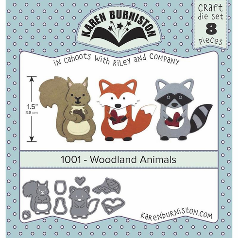 Karen Burniston Woodland Animals Die Set 1001 (S/O)