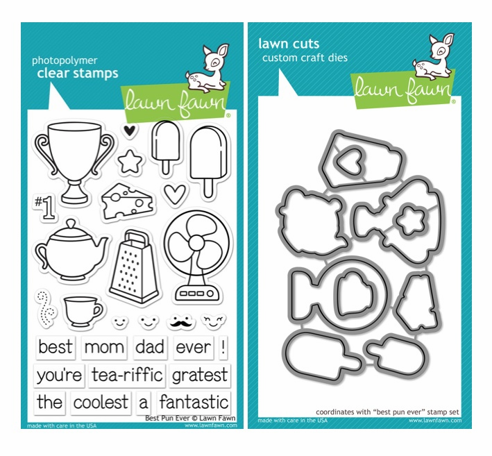Lawn Fawn - Best Pun Ever - Clear Stamp Set & Matching Dies - LF845 - LF846 - S/O