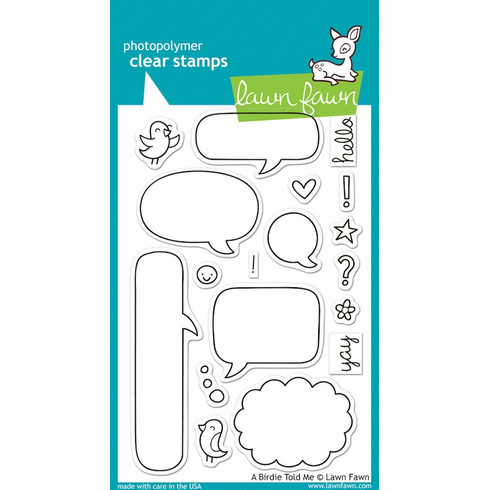 Lawn Fawn - Clear Stamps - A Birdie Told Me - S/O