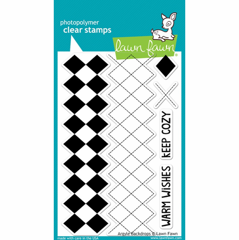 Lawn Fawn - Clear Stamps - Argyle Backdrops - S/O