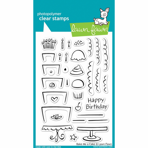 Lawn Fawn - Clear Stamps - Bake Me A Cake - S/O
