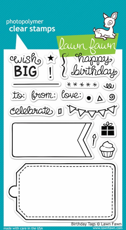 Lawn Fawn - Clear Stamps - Birthday Tags - S/O