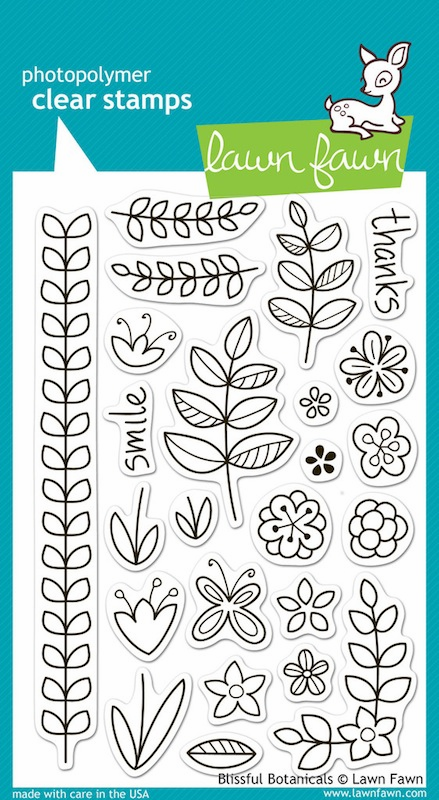 Lawn fawn - Clear Stamps - Blissful Botanicals - S/O