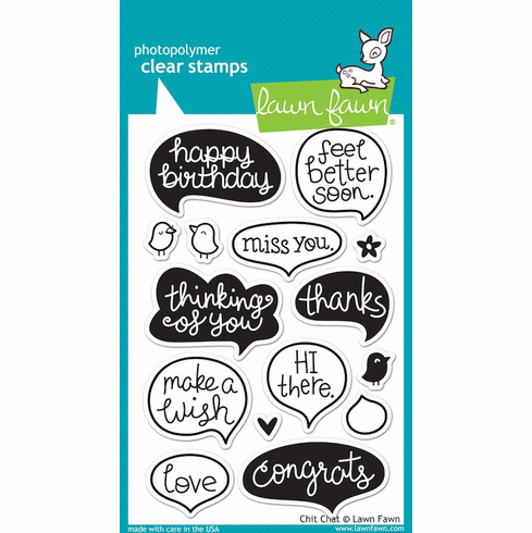 Lawn Fawn - Clear Stamps - Chit Chat - S/O