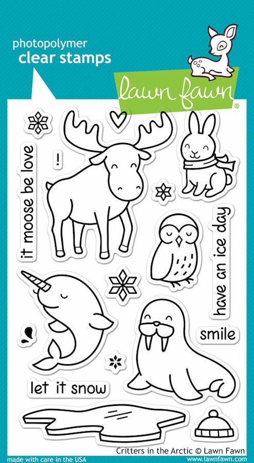 Lawn Fawn - Clear Stamps - Critters in the Arctic - S/O
