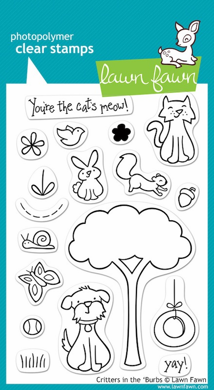 Lawn Fawn - Clear Stamps - Critters In The 'Burbs - S/O