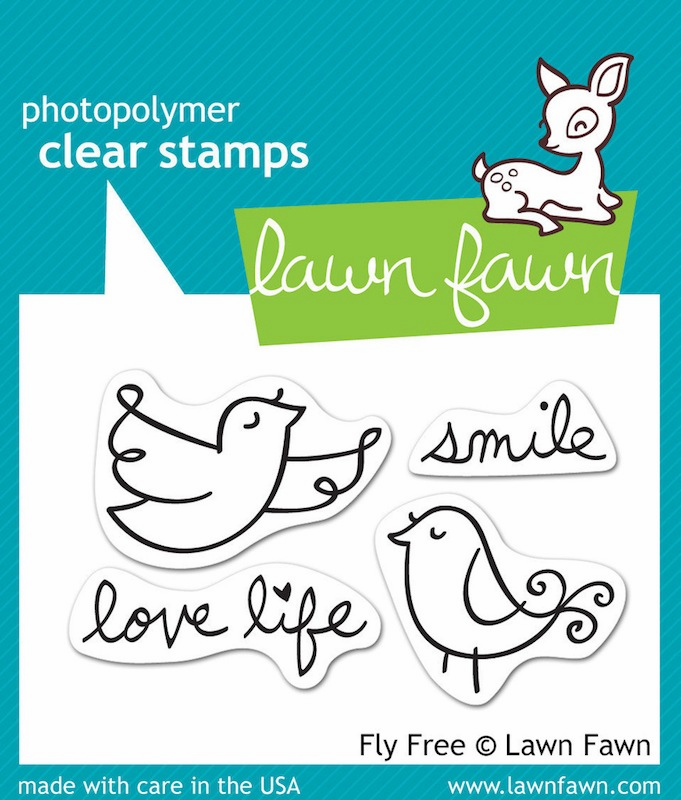 Lawn Fawn - Clear Stamps - Fly Free - S/O
