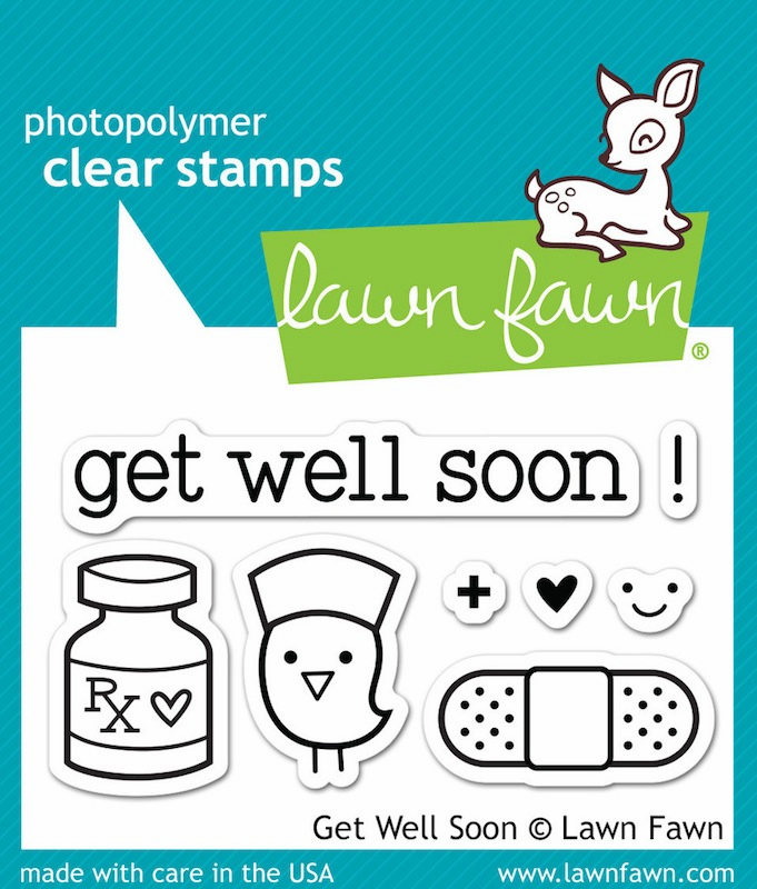 Lawn Fawn - Clear Stamps - Get Well Soon (S/O)