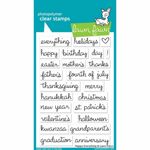 Lawn Fawn - Clear Stamps - Happy Everything - S/O