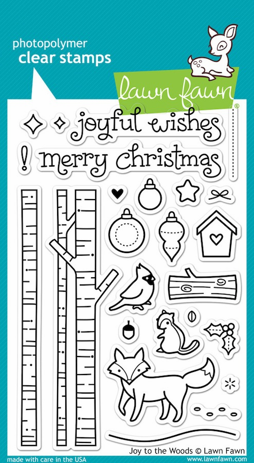 Lawn Fawn - Clear Stamps - Joy To The Woods - S/O