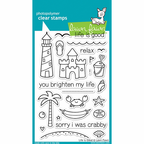 Lawn Fawn - Clear Stamps - Life Is Good - S/O