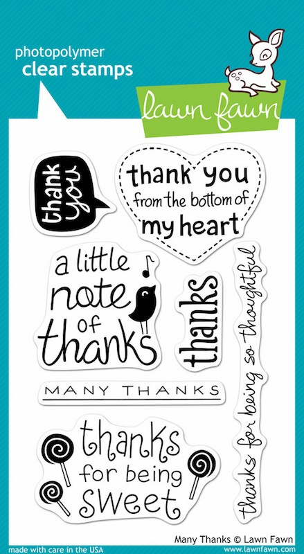 Lawn Fawn - Clear Stamps - Many Thanks - S/O