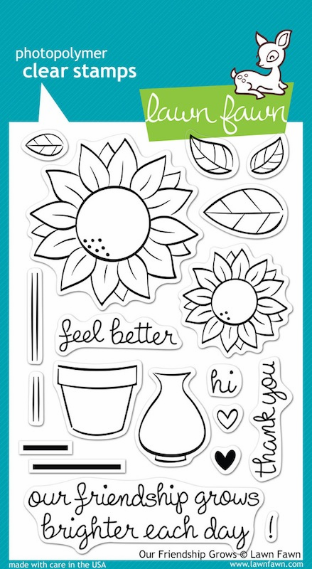 Lawn Fawn - Clear Stamps - Our Friendship Grows - S/O