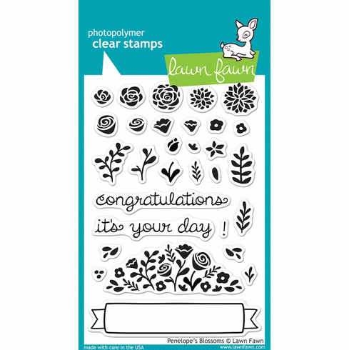 Lawn Fawn - Clear Stamps - Penelope'e Blossoms - S/O