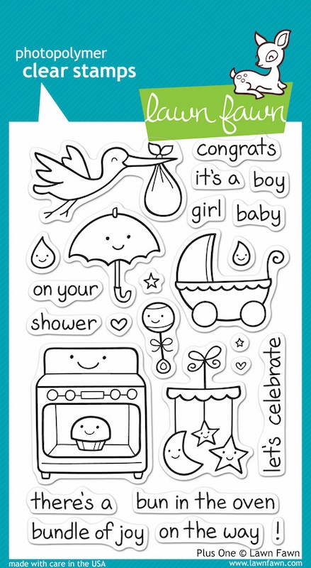 Lawn Fawn - Clear Stamps - Plus One - S/O