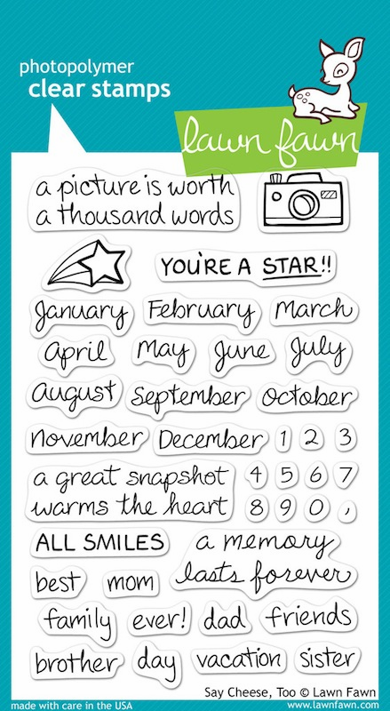 Lawn Fawn - Clear Stamps - Say Cheese, Too - S/O