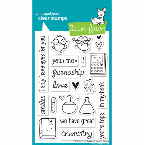 Lawn Fawn - Clear Stamps - Science of Love - S/O