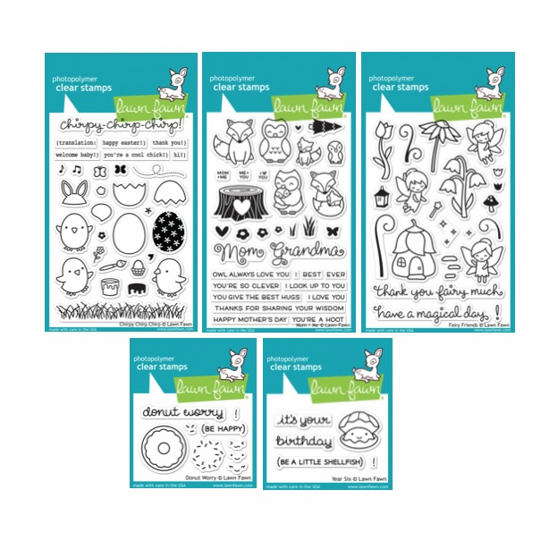 Lawn Fawn Clear Stamps - SET of 5 - S/O