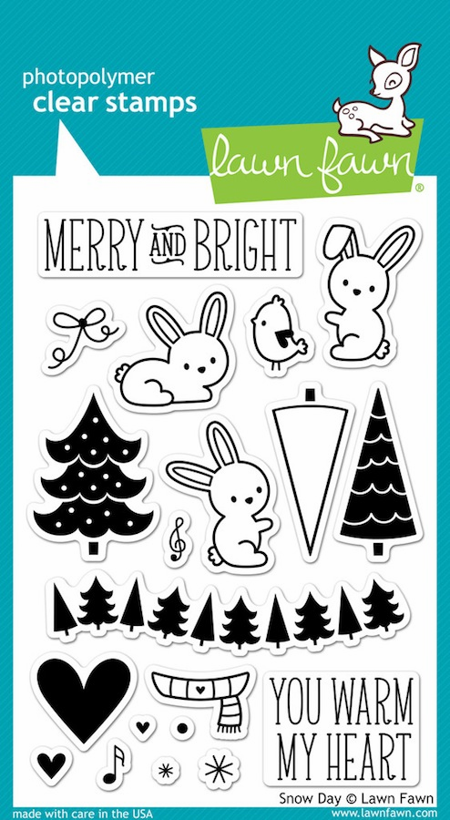 Lawn Fawn - Clear Stamps - Snow Day - S/O