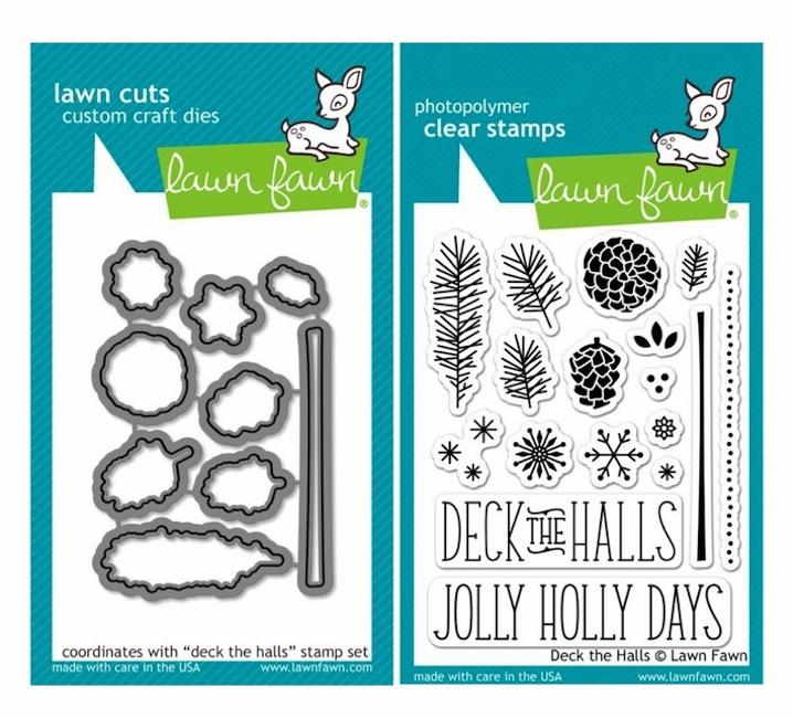 Lawn Fawn - Deck the Halls - Clear Stamp Set & Matching Dies - LF722 & LF721 - S/O