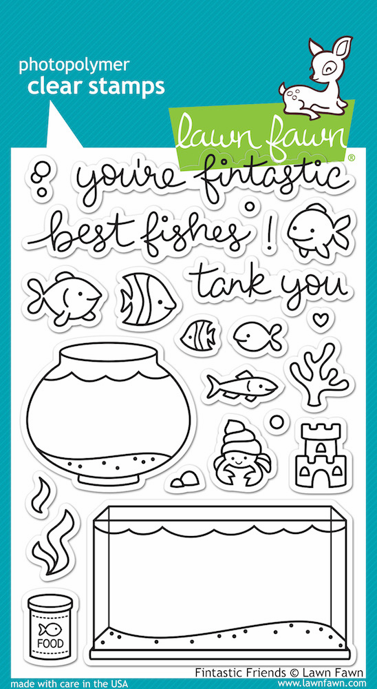 Lawn Fawn Fintastic Friends Clear Stamps - S/O
