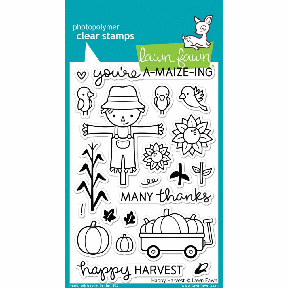 Lawn Fawn Happy Harvest Clear Stamps - S/O