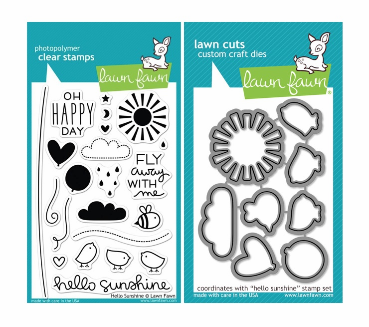 Lawn Fawn - Hello Sunshine - Clear Stamp Set & Matching Dies - LF651 & LF798 - S/O