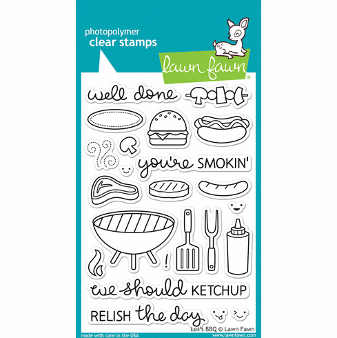 Lawn Fawn Let's BBQ Clear Stamps - S/O