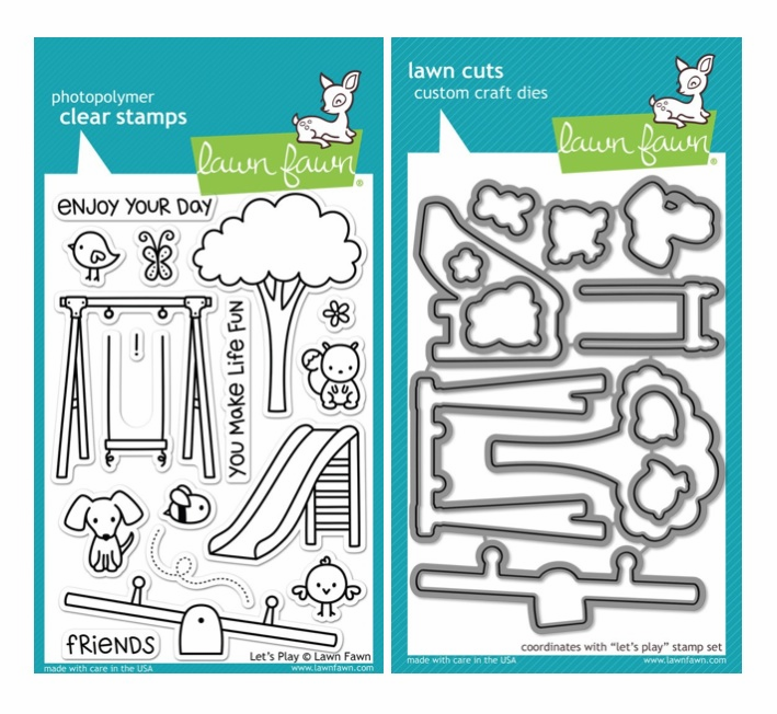Lawn Fawn - Let's Play - Clear Stamp Set & Matching Dies - LF848 - LF849 - S/O