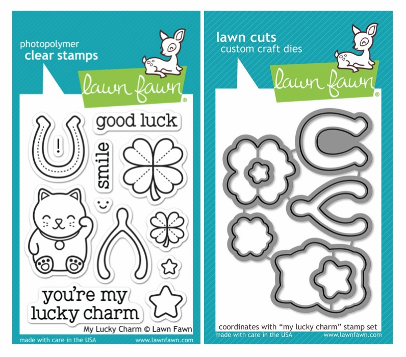 Lawn Fawn - My Lucky Charm - Clear Stamp Set & Matching Dies - LF842 - LF843 - S/O