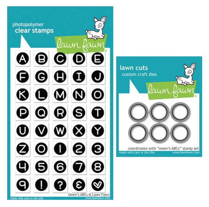 Lawn Fawn Owen's ABCs Clear Stamp Set & Matching Dies LF901 LF902 - S/O