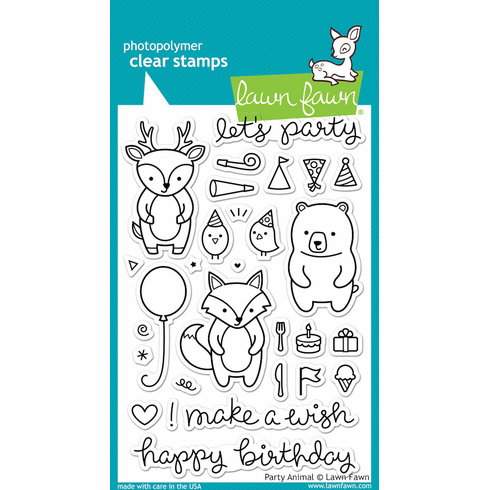 Lawn Fawn Party Animals Clear Stamps - S/O