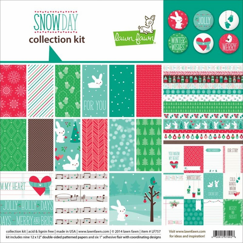 Lawn Fawn - Snow Day Collection Kit 12x12 (S/O)