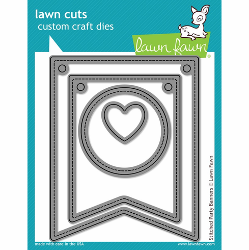 Lawn Fawn Stitched Party Banners Lawn Cuts Custom Craft Die