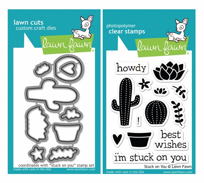 Lawn Fawn - Stuck On You - Clear Stamp Set & Matching Dies - LF850 - LF851  - S/O