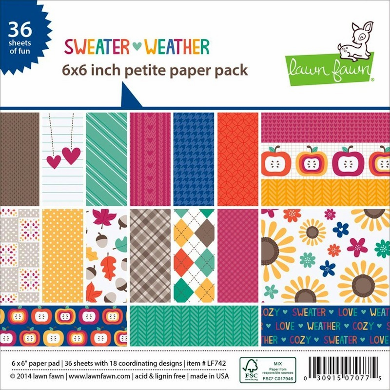 Lawn Fawn - Sweater Weather - Petite Paper Pack 6x6 - (S/O)