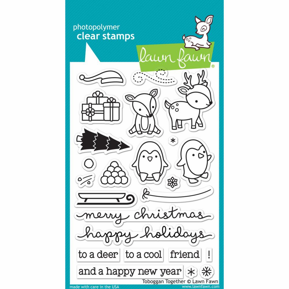 Lawn Fawn Tobaggan Together Clear Stamps - S/O