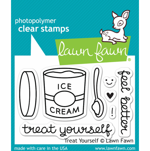 Lawn Fawn Treat Yourself Clear Stamps - S/O