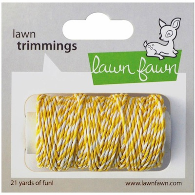 Lawn Fawn - Trimmings Hemp Cord - Lemon