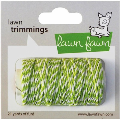 Lawn Fawn - Trimmings Hemp Cord - Lime