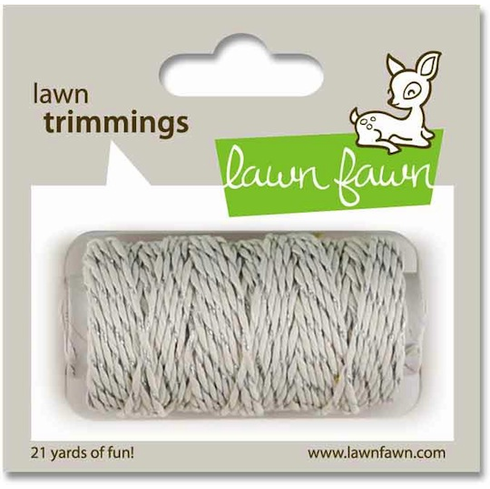 Lawn Fawn - Trimmings Hemp Cord - Silver Sparkle