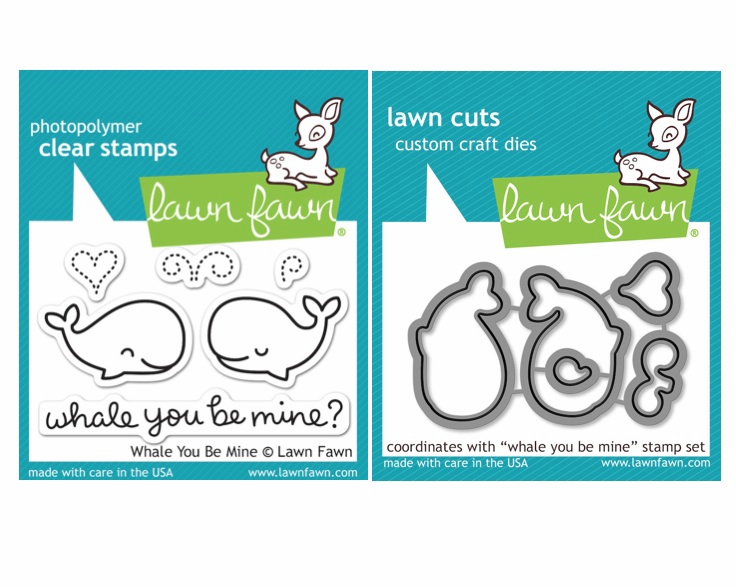 Lawn Fawn - Whale You Be Mine - Clear Stamp Set & Matching Dies - LF791 &792 - S/O