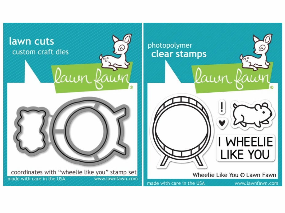 Lawn Fawn - Wheelie Like You - Clear Stamp Set & Matching Dies - LF838 - LF839 - S/O