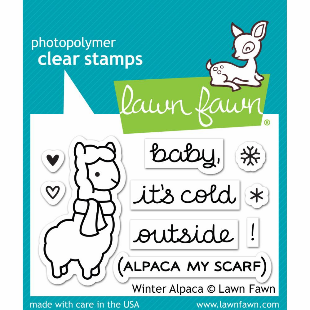 Lawn Fawn Winter Alpaca Clear Stamps - S/O