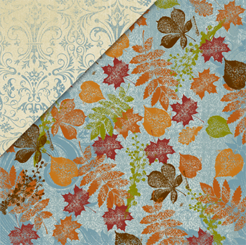Little Yellow Bicycle: Autumn Bliss - Blue Sky & Leaves/Blue Brocade - S/O